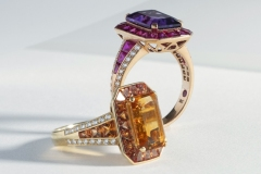 Colored Stone & Diamond Rings by Roberto Coin