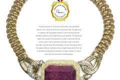 Emmanuel Renoir Legacy Brand 18K & Diamond 220 carat Natural Ruby Necklace