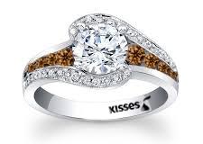 Hershey's Kiss Diamond RIng by Steven Zale