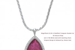 23+ Carat All Natural Ruby Cut & Designed by Steven Zale