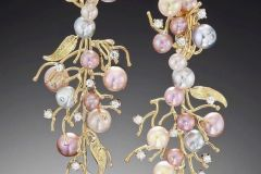 Pearl & Diamond Drop Earrings Alex Blal