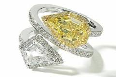 Twin-kite-cuts- yellow diamond-ring