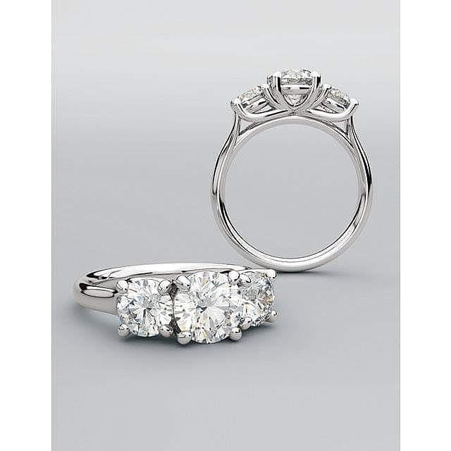18K 3 Diamond Classic Ring by Steven Zale