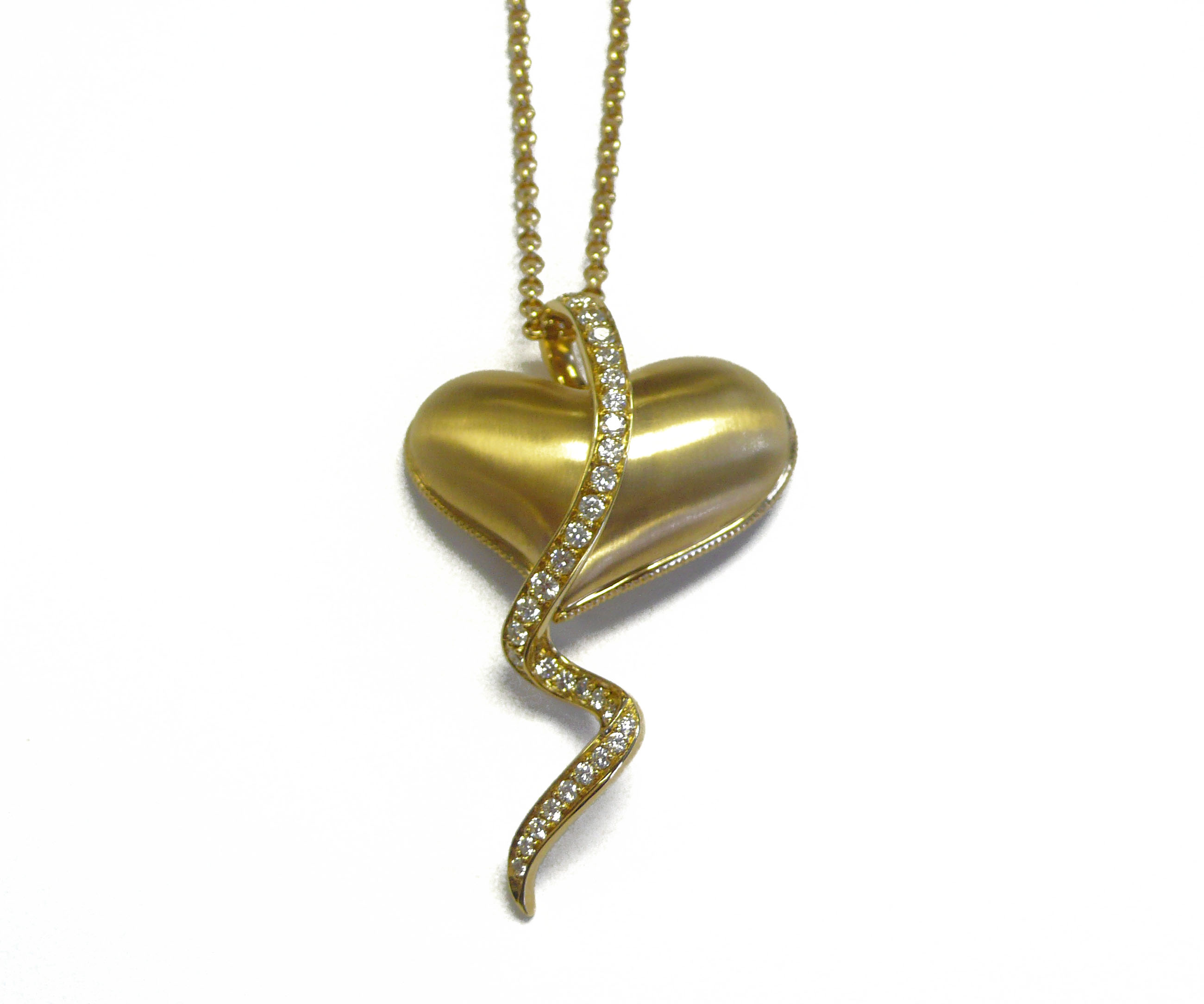 18K & Diamond Crying Heart Pendant by Steven Zale
