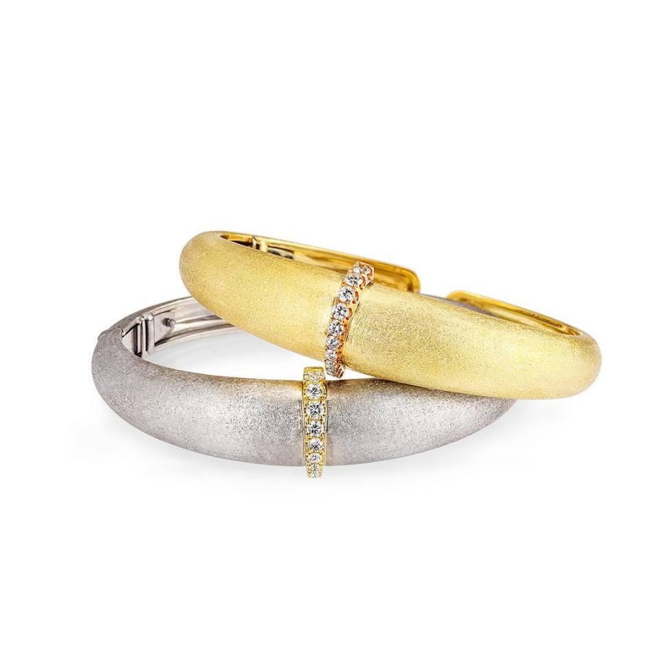 18K & Diamond Cuff Bracelets by Ana Katarina
