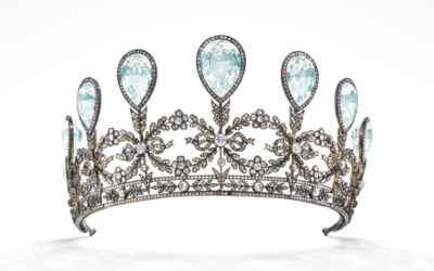 Geneva—A historic Fabergé tiara given by the regent of Mecklenburg-Strelitz in northern Germany to his bride in the early 1900s is heading to auction for the first time next month.