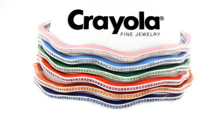 Crayola Brand Nano Colored Stone Stackable Bracelets by Steven Zale