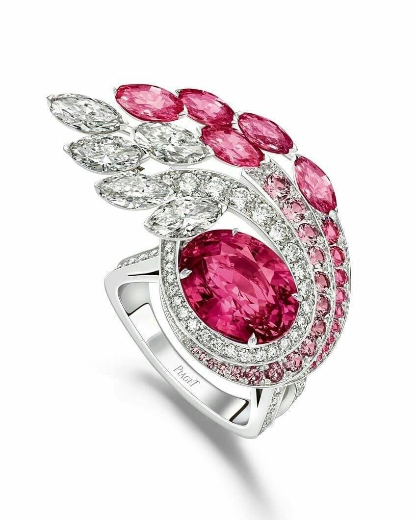 Diamonds and Pink Sapphires Ring by Piaget