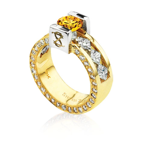 Fancy Vivid Yellow Diamond Ring by Steven Zale