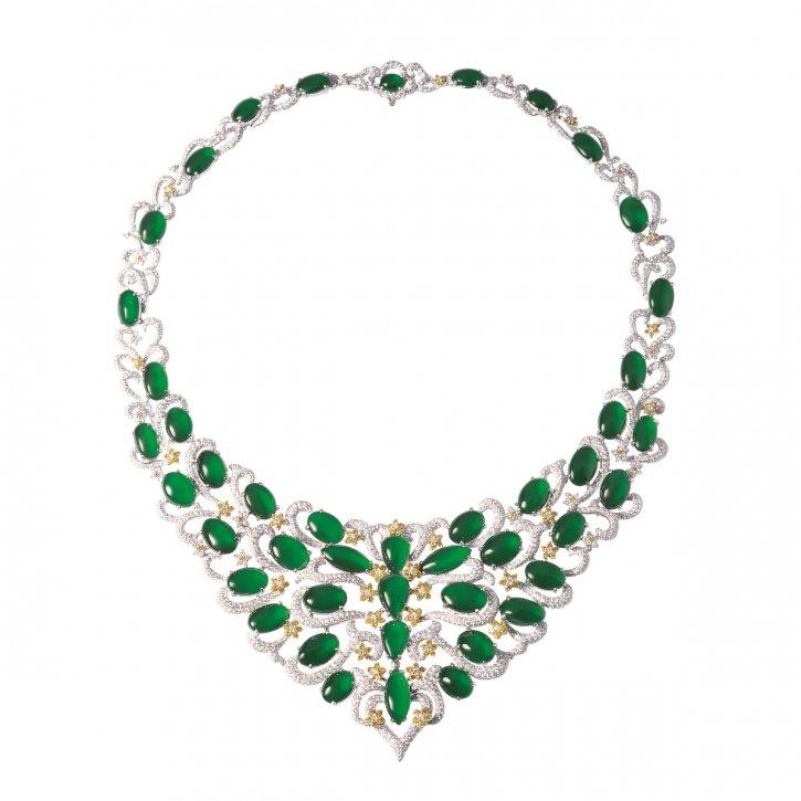 Jadeite Necklace 18K White Gold