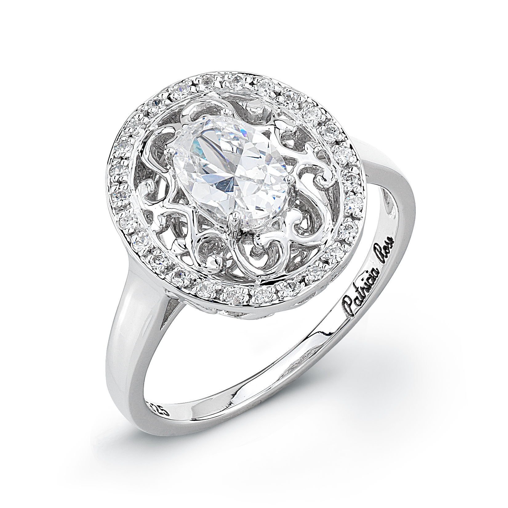 Patricia Rose Oval Diamond Ring Style