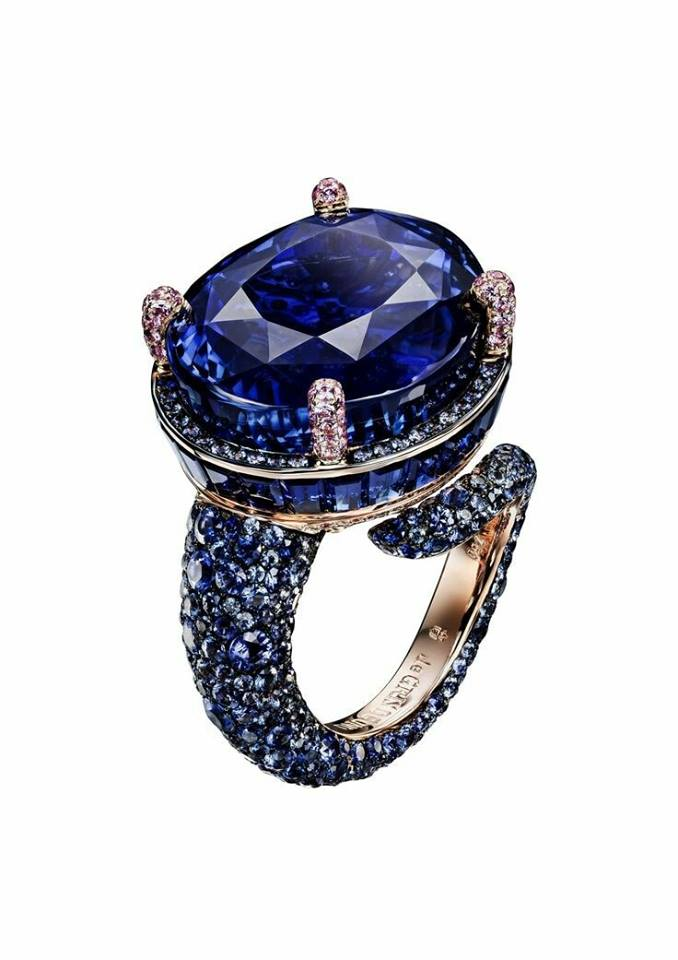 Sapphire and Diamond Ring by de GRISOGONO