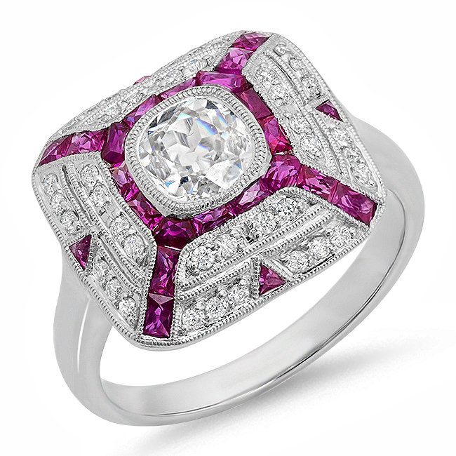 Zale Ruby and Diamond RIng