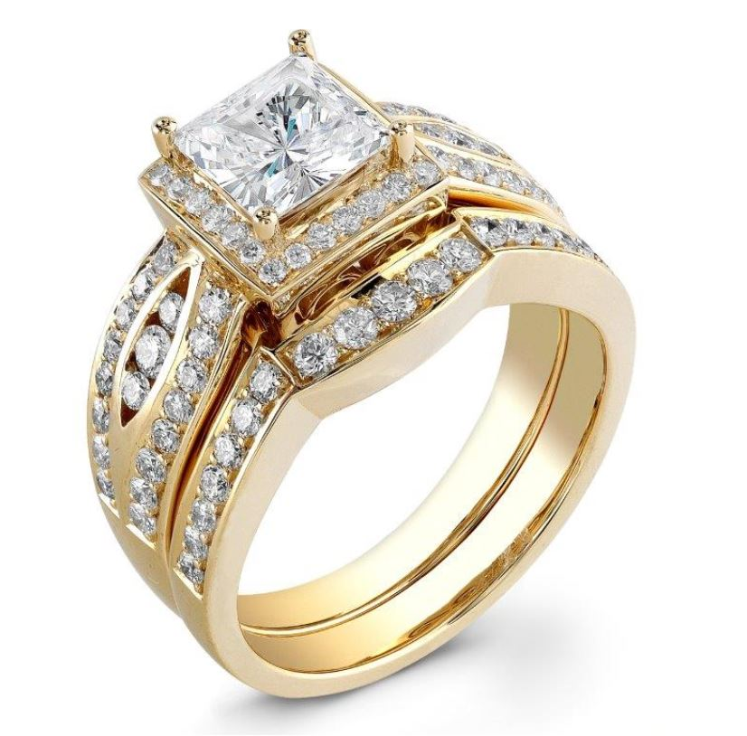 18K Diamond 1 ct Bridal Set by Steven Zale