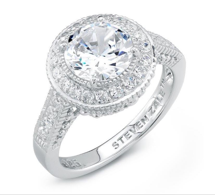 Zale Basic 1 CT Halo Engagement Ring