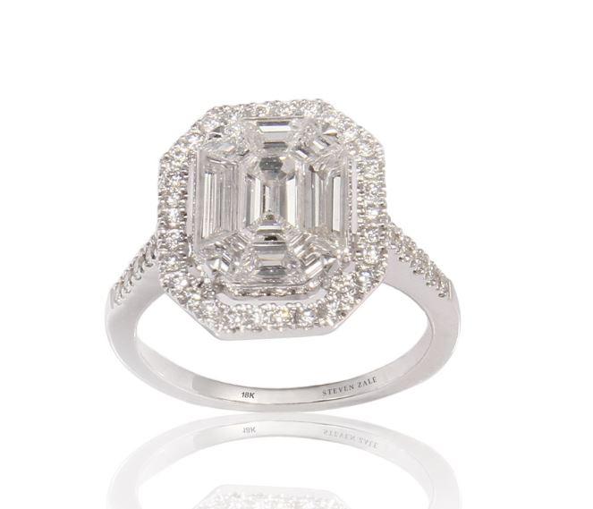 Custom Multi Diamond Engagement Ring by Steven Zale