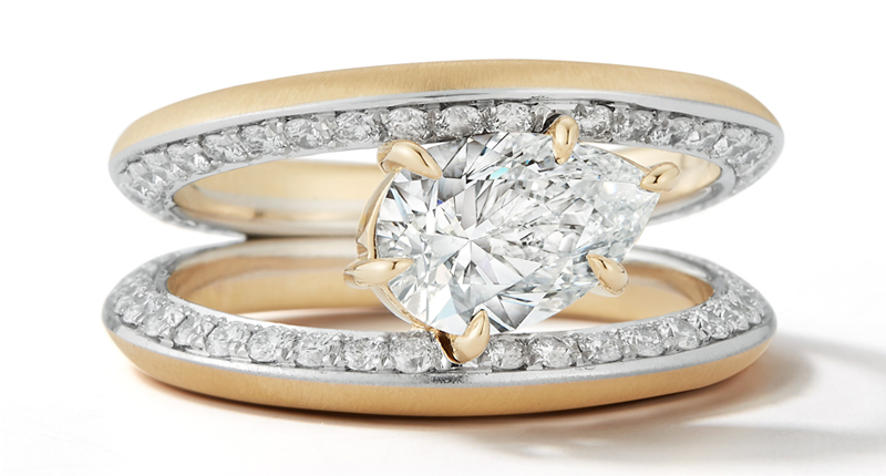 Ring by Jade Trau won first place in the Bridal category of the 2019 Couture Design Awards.