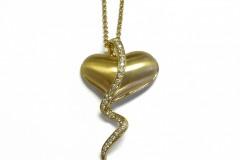 18K & Diamond Crying Heart Pendant by Steven Zale
