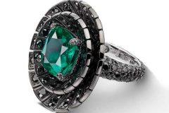 De-Grisogono-Black-Diamond-Emerald-Ring