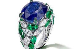 De-Grisogono-Sapphire-Emerald-Diamond-Ring