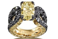 De-Grisogono-Yellow-Black-Diamond-Ring
