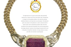 Emmanuel Renoir Legacy Brand 18K & Diamond 220 carat Natural Ruby Necklace