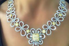 Krit Kant Necklace Yellow & White Diamonds