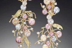 Pearl & Diamond Drop Earrings Alex Blal