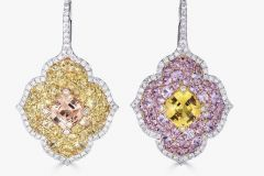 Stunning pair of reverse set Pacha Earrings by Piranesi
