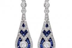 Zale-Drop-Diamond-Blue-Saph-Earrings