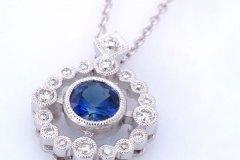 Zale-Round-Blue-Saph.-Diamond-Pendant-Small