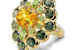 Badgley Mischka Peridot Diamond RIng by SJ Zale