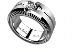GTS 1 ct Platinum Custom Ring by Steven Zale