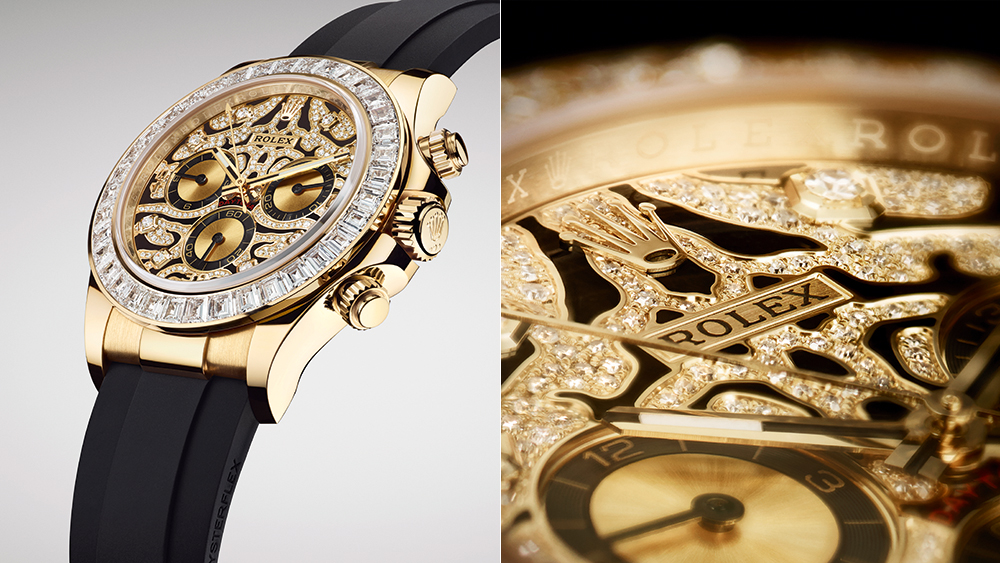 Rolex's Newest Daytona Features a Gold Case and Hundreds of Diamonds