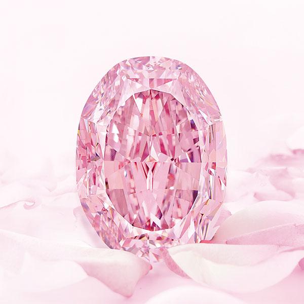 The Spirit of the Rose, the world's largest vivid purple-pink diamond.