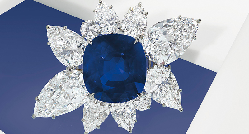 43-Carat Kashmir Sapphire Tops Auction at $6 Million