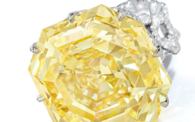 The Sienna Star, one of the largest fancy vivid yellow diamonds ever to be auctioned.